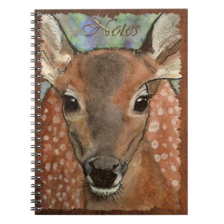 Spotted Deer Fawn Wildlife-supporter Notebook