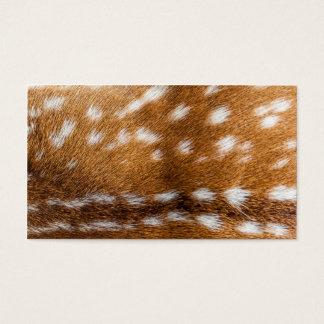 Spotted deer fur texture business card