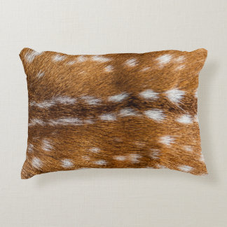 Spotted deer fur texture decorative pillow