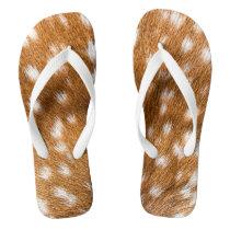 Spotted deer fur texture flip flops