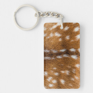Spotted deer fur texture keychain