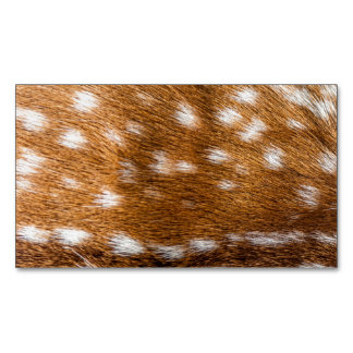 Spotted deer fur texture magnetic business card