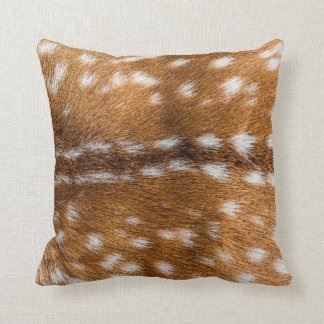 Spotted deer fur texture throw pillow