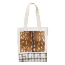Spotted deer fur texture zazzle HEART tote bag