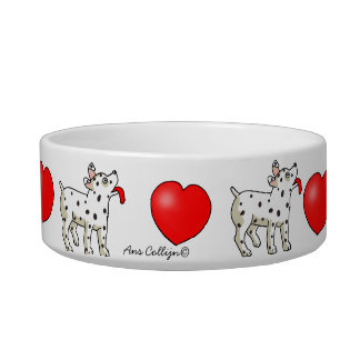 Spotted Dog with Heart - Pet Bowl