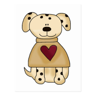 Spotted Dog with Heart T-shirts and Gifts Postcard