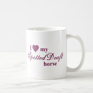 Spotted Draft horse Coffee Mug
