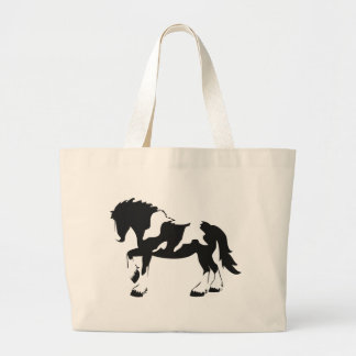 Spotted Draft Horse Large Tote Bag