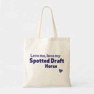 Spotted Draft horse Tote Bag