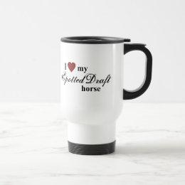 Spotted Draft horse Travel Mug