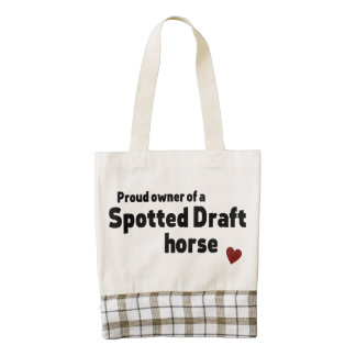 Spotted Draft horse Zazzle HEART Tote Bag