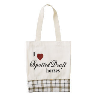 Spotted Draft horses Zazzle HEART Tote Bag