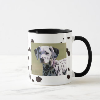 Spotted Drinkware Mug with Dalmation Dog Photo