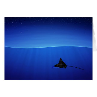 Spotted eagle ray, Aetobatus narinari Card
