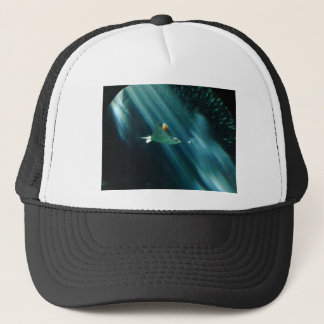 spotted eagle ray morning light trucker hat