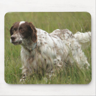 Spotted English Setter Dog Mouse Pad
