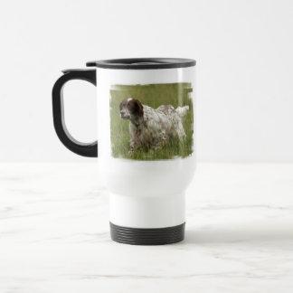 Spotted English Setter Dog Plastic Travel Mug