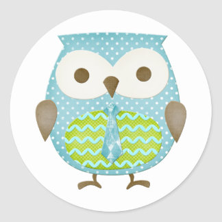Spotted Executive Owl Classic Round Sticker