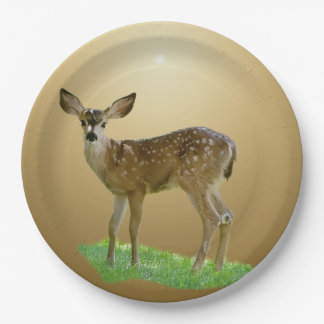 SPOTTED FAWN 9 INCH PAPER PLATE