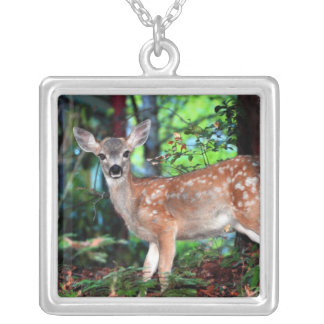 Spotted Fawn Silver Plated Necklace