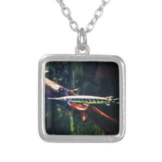 Spotted Gar Silver Plated Necklace