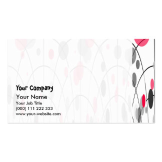 Spotted geometric pattern business card