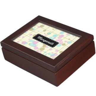 Spotted geometric pattern keepsake box