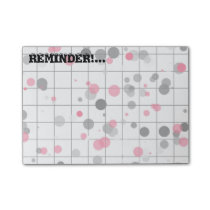 Spotted geometric pattern post-it notes