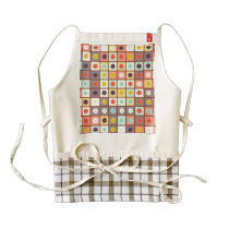 Spotted geometric pattern zazzle HEART apron