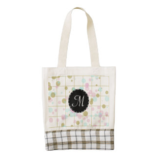 Spotted geometric pattern zazzle HEART tote bag