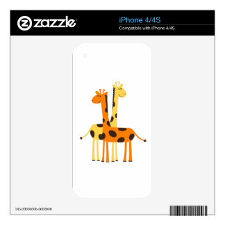 Spotted Giraffe Friends Skins For The iPhone 4S