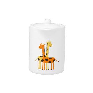 Spotted Giraffe Friends Teapot