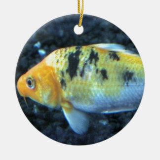 Spotted Goldfish Ceramic Ornament