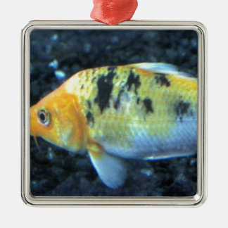 Spotted Goldfish Metal Ornament