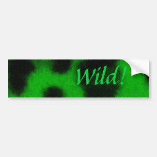 Spotted Green Leopard Bumper Sticker