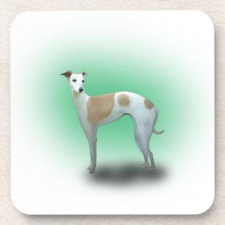 Spotted Greyhound Dog Drink Coaster