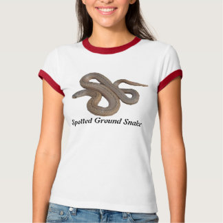 Spotted Ground Snake Ladies Ringer T-Shirt