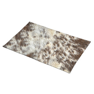 Spotted Horse / Cow Hide / Animal Fur Image Cloth Placemat