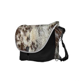 Spotted Horse / Cow Hide / Animal Fur Image Messenger Bag