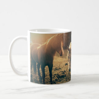 Spotted horse friends coffee mug