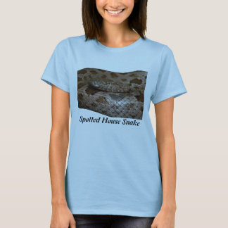 Spotted House Snake Ladies Baby Doll T-Shirt