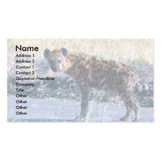 Spotted Hyaena Business Card Template