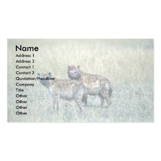 Spotted Hyaenas Business Card Template
