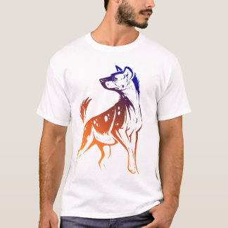 Spotted Hyena Blue Gradated Destroyed T T-Shirt
