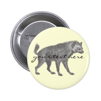Spotted Hyena Button