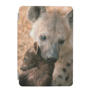 Spotted Hyena (Crocuta Crocuta) With Pup iPad Mini Cover