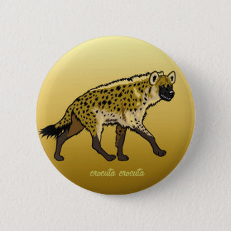 spotted hyena pinback button