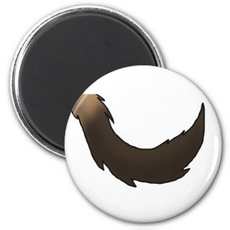Spotted Hyena Tail 2 Inch Round Magnet