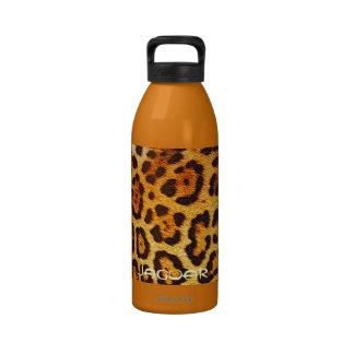 Spotted Jaguar Big Cat Fur Designer Water Bottle