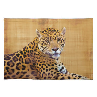 Spotted Jaguar Big Cat-lover #Gift Cloth Placemat